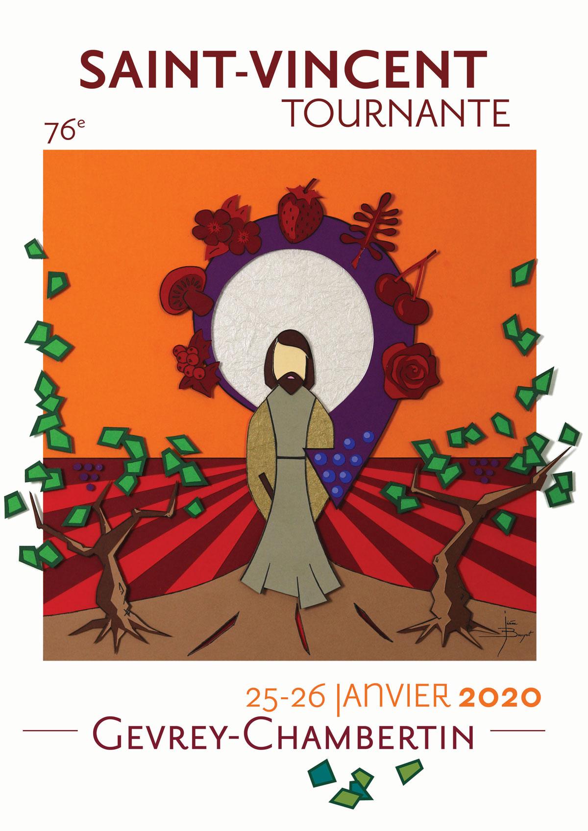 Saint Vincent Tournante Gevrey Chambertin 2020 - Affiches officielles