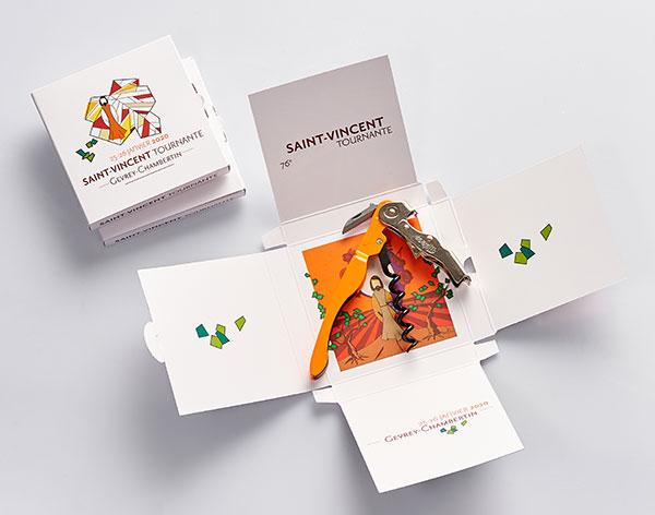 Saint Vincent Tournante Gevrey Chambertin 2020 - Carte postale métallique : 6 €